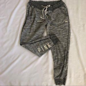 Victorias Secret PINK Joggers Gray Sweatpant Large